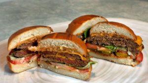 肉0%! 代替肉のハンバーガー